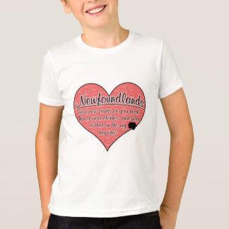ニューファウンドランドの足は犬のユーモアを印刷します Tシャツ