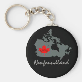 ニューファウンドランドは愛カナダの地域をカスタマイズ キーホルダー