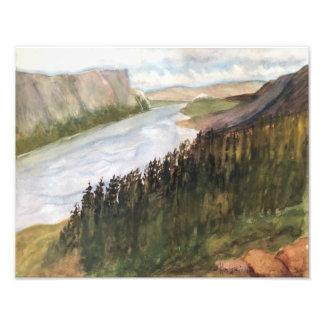 ニューファウンドランドカナダ-水彩画 フォトプリント