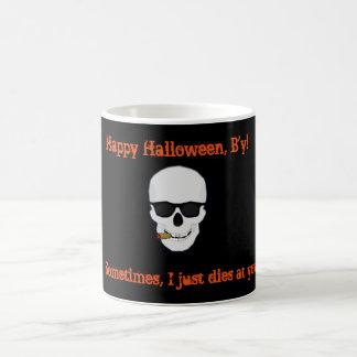 ニューファウンドランドハロウィンのマグ コーヒーマグカップ