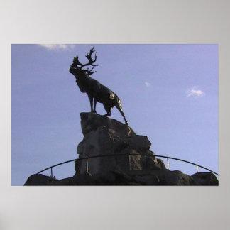 ニューファウンドランド公園、カリブーの記念物、 ポスター