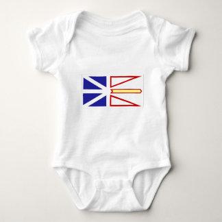 ニューファウンドランド旗#2 ベビーボディスーツ
