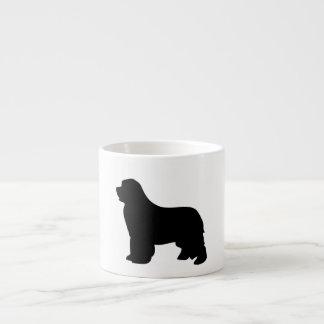 ニューファウンドランド犬のエスプレッソのマグ、黒いシルエット エスプレッソカップ