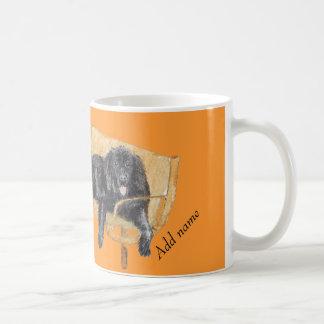 ニューファウンドランド犬のマグは名前を加えます コーヒーマグカップ