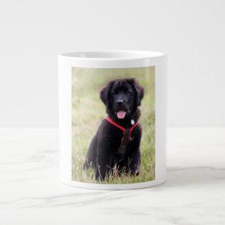 ニューファウンドランド犬の子犬のかわいく美しい写真、ギフト ジャンボコーヒーマグカップ