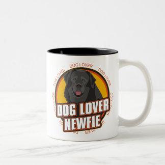 ニューファウンドランド犬の恋人 ツートーンマグカップ