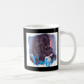 ニューファウンドランド犬の絵画 コーヒーマグカップ