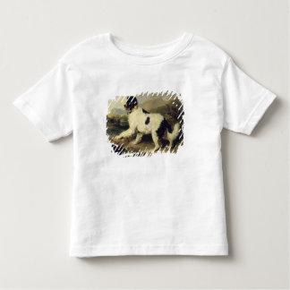 ニューファウンドランド犬はLion 1824年を電話しました(キャンバスの油) トドラーTシャツ