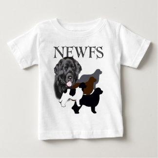 ニューファウンドランド犬4色 ベビーTシャツ