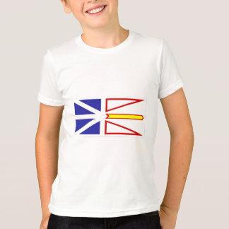 ニューファウンドランド、カナダの旗 Tシャツ
