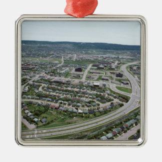 ニューファウンドランド、カナダの都市景観の空中写真 メタルオーナメント