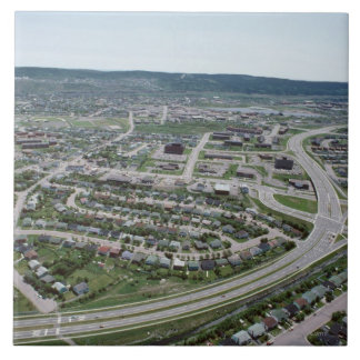 ニューファウンドランド、カナダの都市景観の空中写真 正方形タイル大