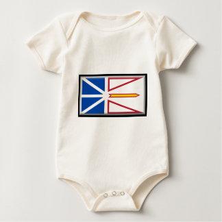 ニューファウンドランド(カナダ)の旗 ベビーボディスーツ