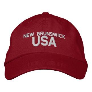 ニューブランズウィック米国の帽子 刺繍入りキャップ