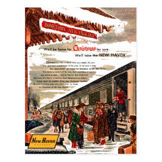 ニューヘブンの鉄道クリスマス1947年 ポストカード