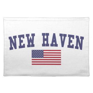 ニューヘブン米国の旗 ランチョンマット