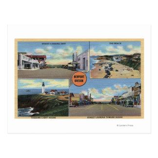ニューポートのオレゴン-主要なYaquinaの灯台 ポストカード