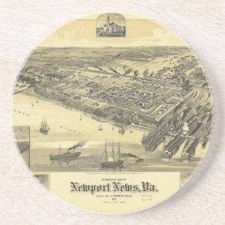 ニューポートのニュースのヴァージニアWarwick郡地図1891年 コースター