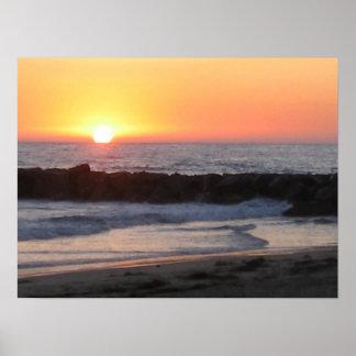 ニューポートの日没 ポスター