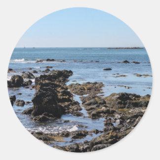 ニューポートの海の崖 ラウンドシール