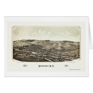 ニューポートのNYのパノラマ式の地図- 1890年 カード