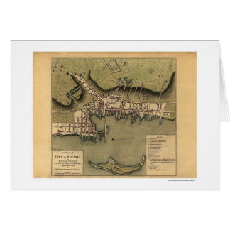 ニューポートのRIの町の地図- 1777年 カード