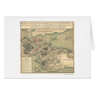 ニューポートのRIの革命的な地図1780年 カード