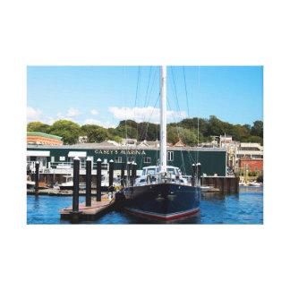 ニューポートのRI港のヨット キャンバスプリント