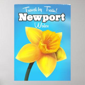 ニューポートウェールズのヴィンテージのラッパスイセン旅行ポスター ポスター