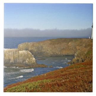 ニューポートオレゴンのYaquinaのヘッド灯台 タイル