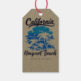 ニューポートビーチカリフォルニアのギフトのラベル ギフトタグ