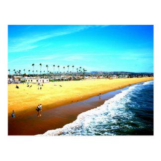 ニューポートビーチカリフォルニアの海の写真 ポストカード