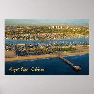 ニューポートビーチカリフォルニアポスター ポスター