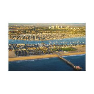 ニューポートビーチカリフォルニア キャンバスプリント