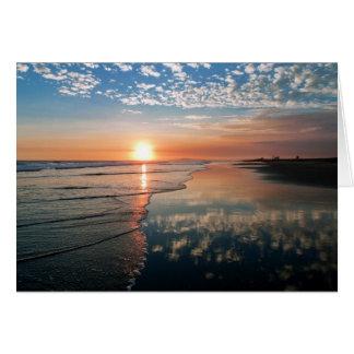 ニューポートビーチ、カリフォルニアの日没 カード
