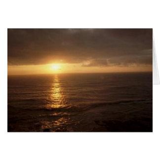 ニューポート、オレゴンの日没 カード