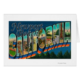 ニューポート、カリフォルニア-大きい手紙場面 カード