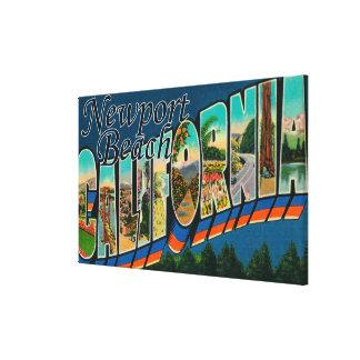 ニューポート、カリフォルニア-大きい手紙場面 キャンバスプリント