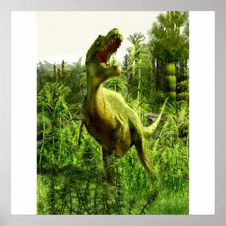 ニューメキシコのアロサウルス ポスター