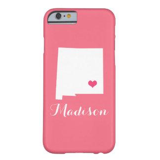 ニューメキシコのハートのピンクのカスタムのモノグラム BARELY THERE iPhone 6 ケース