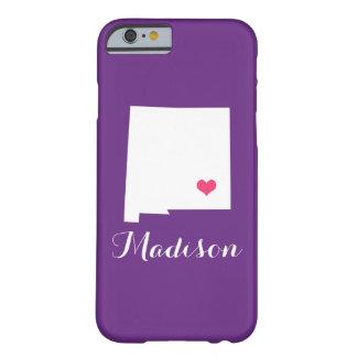 ニューメキシコのハートの紫色のカスタムなモノグラム BARELY THERE iPhone 6 ケース