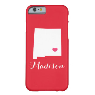 ニューメキシコのハートの赤くカスタムなモノグラム BARELY THERE iPhone 6 ケース