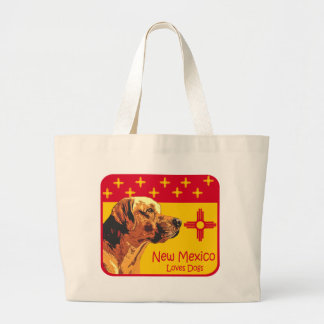 ニューメキシコのラブラドールのバッグ ラージトートバッグ