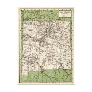 ニューメキシコのヴィンテージの地図 キャンバスプリント