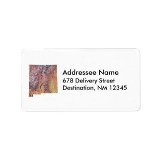 ニューメキシコの地図の宛名ラベル ラベル