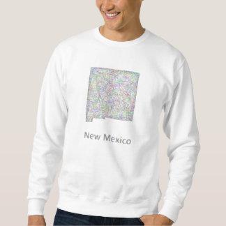 ニューメキシコの地図 スウェットシャツ