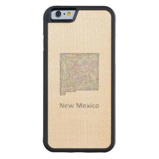 ニューメキシコの地図 CarvedメープルiPhone 6バンパーケース
