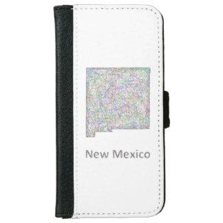 ニューメキシコの地図 iPhone 6/6S ウォレットケース