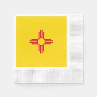 ニューメキシコの州の旗のデザイン 縁ありカクテルナプキン