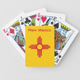 ニューメキシコの州の旗のトランプ バイスクルトランプ